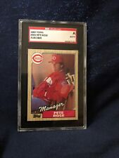 1987 TOPPS#383 PETE ROSE AUTOGRAPHED SGC AUTHENTICE