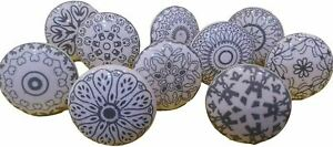 Hand Painted Ceramic Knobs Cabinet Drawer Pull Kitchen knob Puller Pulls xfer-10