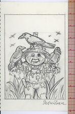 Original artwork 2004 Garbage Pail Kids ANS 2 - 14a Scarin' Aaron 14b Corny Cody