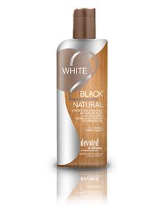 Devoted Creations WHITE 2 BLACK NATURAL Streak Free Bronzer Tanning Lotion 8.5oz
