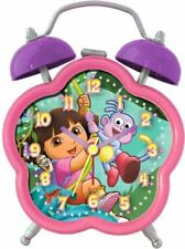 Nickelodeon Dora the Explorer Theme Analog Quartz Pink/Purple Alarm Clock DEC196