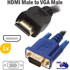 15Pin HDMI Male to VGA Male Cable Converter For Laptop Monitor LCD HD Lead 1080P