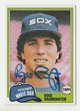 1981 TOPPS ROSS BAUMGARTEN WHITE SOX AUTO AUTOGRAPH SIGNED CARD #398 JSA