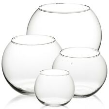 Clear Round Glass Flower Vase Fish Bowl Classic Centerpiece Wedding CandleHolder
