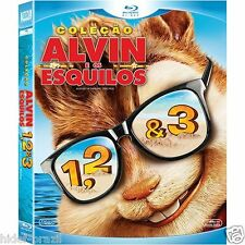 Blu-ray Alvin and the Chipmunks Trilogy [English+Portuguese+Others] Region ALL