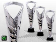 3er Pokalserie TROFEO SILVER - TOP DESIGN & PREIS Pokale mit Gravur