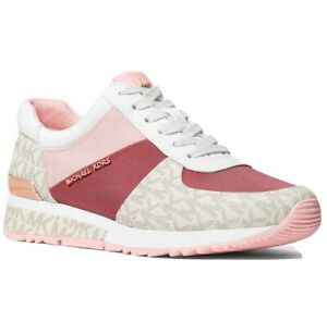 Michael Kors Allie Wrap Tech Canvas Sneakers Light Berry Sorbet