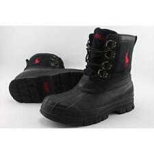 Polo Ralph Lauren Crestwick Men US 9 Black Rain Boot Pre Owned  1422
