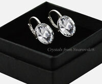 925 Sterling Silver Earrings Crystal (Clear)12mm Rivoli Crystals from Swarovski®