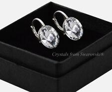 925 Sterling Silver Earrings Crystal (clear)12mm Rivoli Crystals From Swarovski