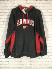NHL Detroit Red Wings Hoodie XXL 2XL Black NWT