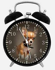 "Cute Chihuahua Alarm Desk Clock 3.75"" Home or Office Decor E412 Nice For Gift"