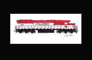 """Reading & Northern SD50-2 #5018 11""""x17"""" Matted Print Andy Fletcher signed"""