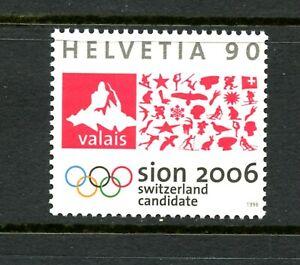 E240 Switzerland 1998 Sion - Winter Olympics candidate 1v. MNH