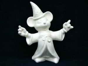 """Disney Sorcerer Mickey from Fantasia ceramic bisque u paint ready to paint 9"""""""