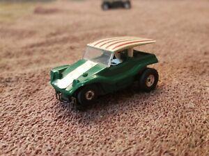 Vintage Aurora Dune Buggy Coupe #1473 Green Thunderjet T-Jet Slot Car Runs.L@@k