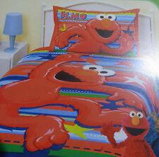 Elmo Single Bed Quilt Doona Duvet Cover Set Sesame St Stars & Stripes PolyCott