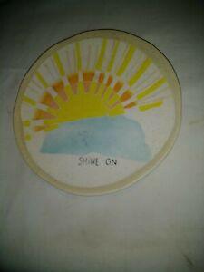 Anthropologie Positive Vibes  Plate Sun Shine On