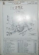 * Carburateur Weber Tipo 42 DCNF 16/2 Citroen SM Maserati  pieces et reglage