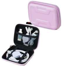 Mini EVA Storage Bag Organizer Case Pouch Zipper Box For USB Cable Earphone Wire