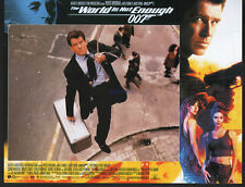 JAMES BOND THE WORLD IS NOT ENOUGH RARE SET OF 12 BRITISH LOBBY CARDS 1999