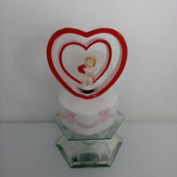 Vintage Lefton Valentine's Hearts Cupid Music Box #04393