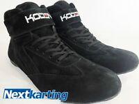 Koden M54 Kart Motorsport Racing Shoes Black Mid Length Boots - Size 8 -