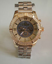 Mens hip hop clubbing Gold/Silver finish BLINGSTAR Rapper style fashion watch