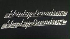 OEM 1951-1954 Harley Davidson panhead gas tank emblems touring softail dyna xl