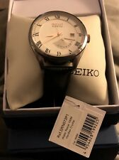 Seiko Kinetic Date-Day White Dial Men's Watch SRN073