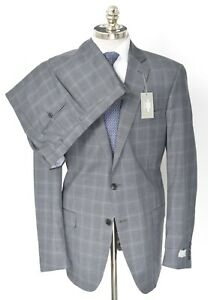NWT HART SCHAFFNER MARX New York Gray Check Wool 2 Btn Suit 46 L (EU 56) Drop 6