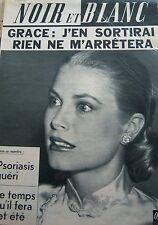 MONACO GRACE KELLY en COUVERTURE de NOIR et BLANC DE 1962 PRINCESSE ANNE