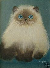 LTD EDITION PERSIAN CAT ACEO PRINT FROM ORIGINAL PAINTING BY SUZANNE LE GOOD