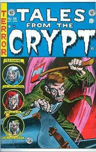 Tales from the Crypt 38 COVER PRINT Jack Davis Bloody Ax Murder Gory PreCode Art
