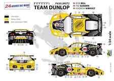 """Ffsmc Productions Decals 1/24 Ferrari F-430 Lmgt2 """"team Dunlop"""" (lm 2009)"""