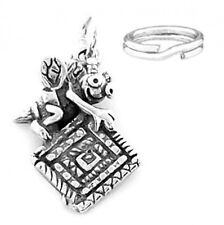 """SILVER """"QUILTING SPELLING BEE"""" CHARM WITH SPLIT RING"""