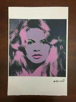 Andy Warhol Litografia 57 x 38 Arches Timbro Secco Israel Castelli AN396