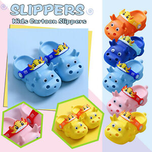 Summer Toddler Kids Baby Boy Girls Cartoon Cattle Animal Non-Slip Slippers Shoes