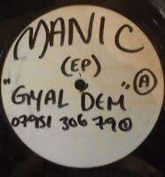 "MANIC ~ Gyal Dem ~ 12"" Single PROMO & PRESS SHEETS"