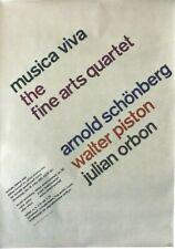 Original vintage poster MUSICA VIVA FESTIVAL ZURICH 1961
