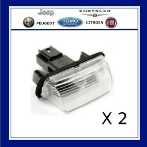 Pair of Rear Number Plate Light Lamp Fit for Citroen C3 C4 C5 Picasso 6340A3