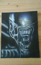 superbe tableau alien phosphorescent brille la nuit unique cadeau monstre noir