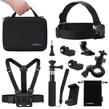 Luxebell Accessories Kit for Sony Action Cam HDR-AS15/20/30V/100V/AS200V/Sony Ac