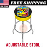 Arcade1UP Pacman Adjustable Stool With Extending Legs Foam Padding Chrome Plated