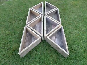 Hand Made Wooden Corner Planters/Herb Stands - 100% Reclaimed/Upcycled Decking T