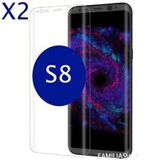 Lot de 2 Films Protection Entier Incurvé Pour Samsung Galaxy S8