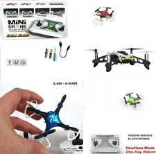 DRONE QUADRICOPTER MINI PORTABLE RADIO-CONTROLLED RECHARGEABLE USB LED 6-AXIS