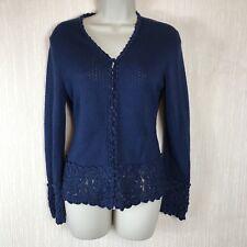 Spirit Of The Andes 100% Pima Cotton Crochet Ladies Cardigan Size S 8 UK