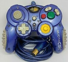 MicroCon Game Controller for GameCube Metallic Blue and Gray