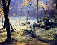 Moss Garden Forest Tree Landscape Scenery Picture Art Print (8x10)